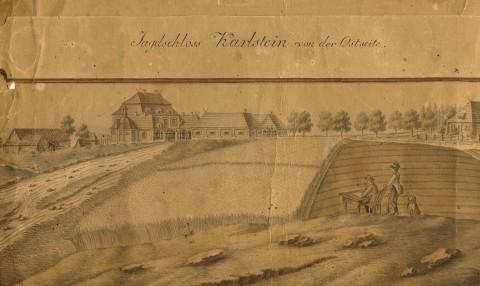 nejstarší vyobrazení Karlštejna