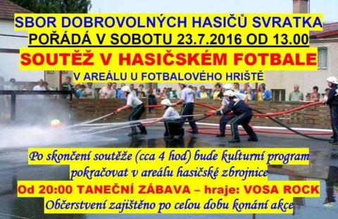 hasičský fotbal 2016